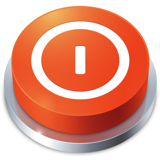 Power Off, Shutdown, Perspective, Button, Turn Off Icon