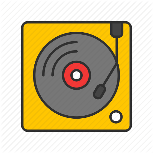 Dj, Record, Scratch, Turntable Icon