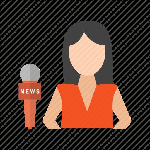 Anchor, Female, Live, News, Presenter, Studio, Tv Icon