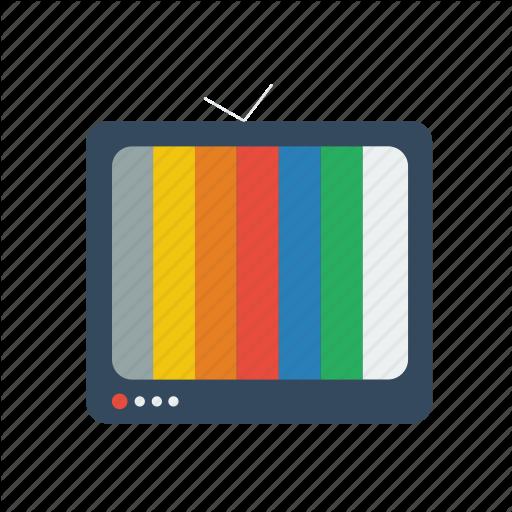 Broken Tv, Flat Television, Flat Tv, Rgb, Television, Tv Icon