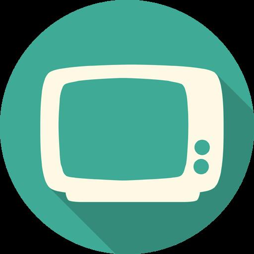 Tv Icon Free Of Long Shadow Media Icons