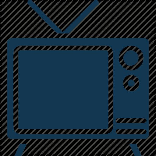 Electronics, Retro Tv, Tv, Tv Antenna, Tv Set Icon