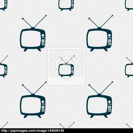 Retro Tv Mode Sign Icon Television Set Symbol Seamless Abstract