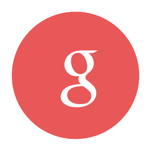 Circular, G, Google, Modern, Red Icon