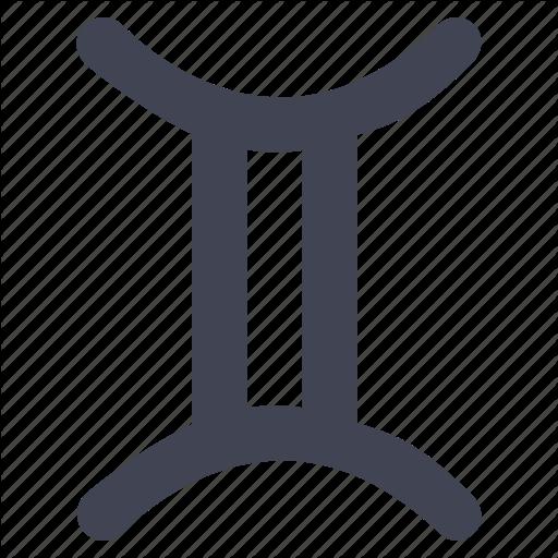 Gemini, Horoscope, Personality, Starsign, Twin, Zodiac Icon