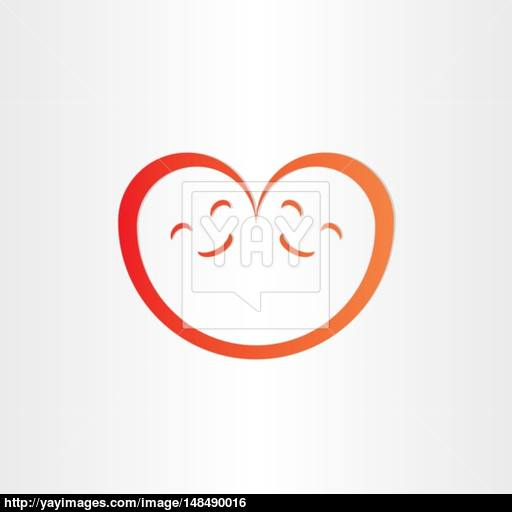 Twins Babies Smile Heart Shape Love Icon Vector