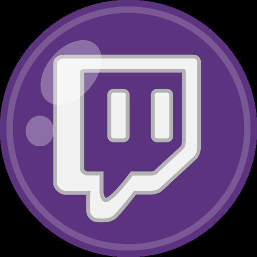 Social Media Twitch Glyph Icon