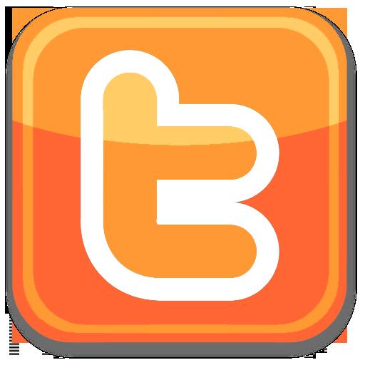 Orange Twitter Icon Iconshow Logo Image