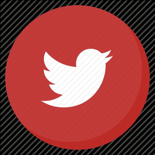 Bird, Circle, Media, Red, Social, Tweet, Twitter Icon