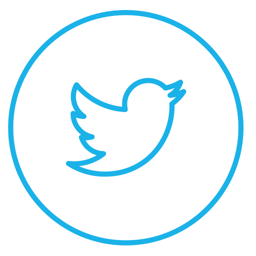 Circle, Circles, Line, Neon, Social, Tweet, Twitter Icon