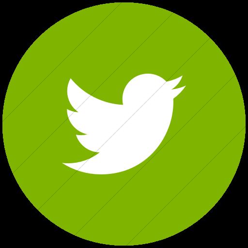 Flat Circle White On Green Raphael Twitter Bird Icon
