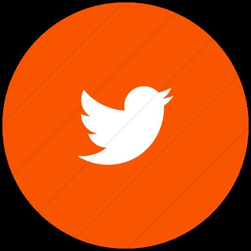 Flat Circle White On Orange Foundation Social Twitter