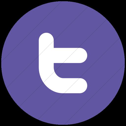 Flat Circle White On Purple Raphael Twitter Icon