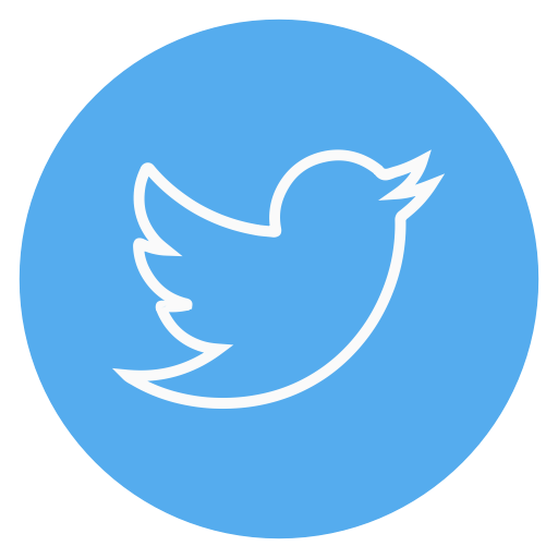 Twitter, Outline, Social Media, Circle Icon