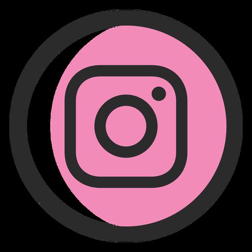 Instagram Colored Stroke Icon
