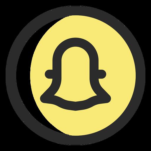 Snapchat Colored Stroke Icon