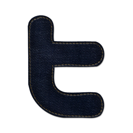 Twitter Icon Blue Jeans Social Media Iconset