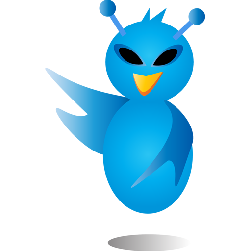 Alien, Bird, Twitter Icon