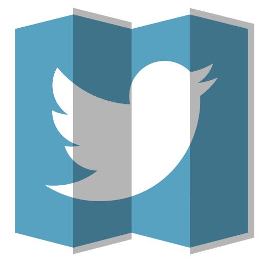 Twitter Icon Folded Social Media Iconset Designbolts
