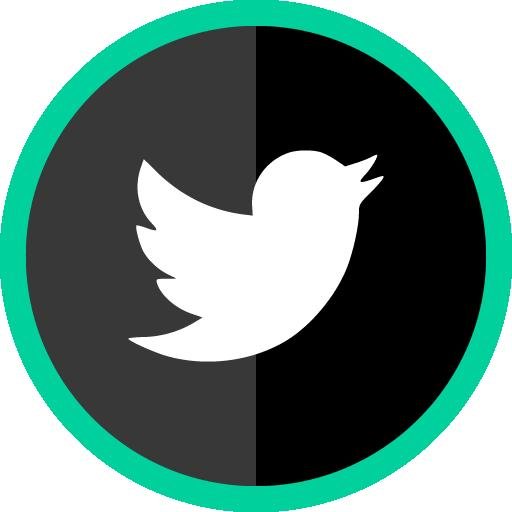 Free Twitter Green Round Social Media Icon