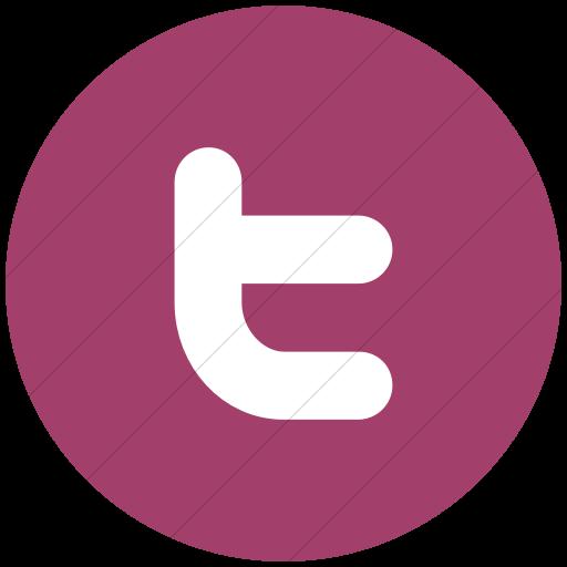 Flat Circle White On Pink Raphael Twitter Icon