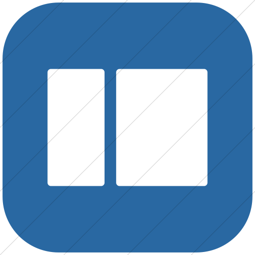 Flat Rounded Square White On Blue Layouts Rounded Short