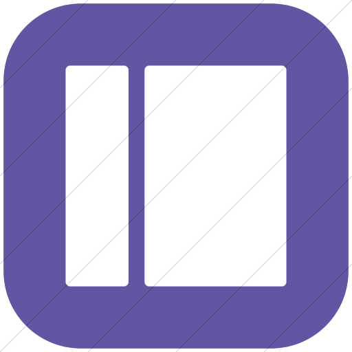 Flat Rounded Square White On Purple Layouts Rounded