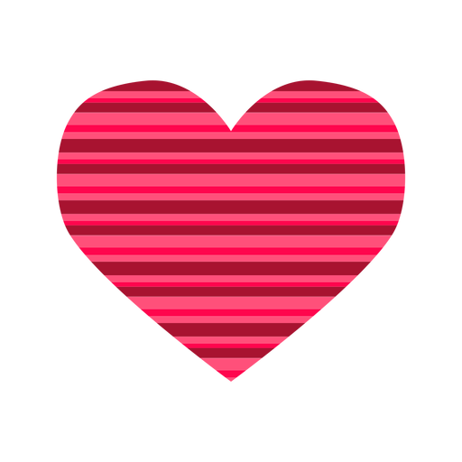 Pink Stripes Heart Sticker