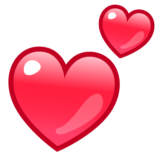 Two Hearts Emoji For Facebook, Email Sms Id
