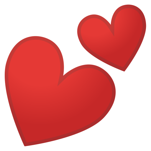 Two Hearts Icon Noto Emoji People Family Love Iconset Google