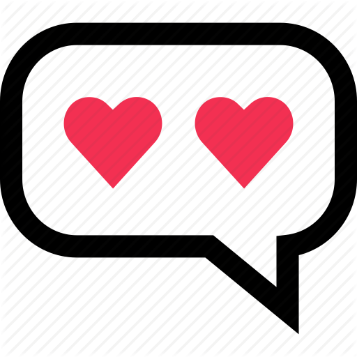 Hearts, Love, Messaging, Sms, Text, Two Icon Icon Bold Texts