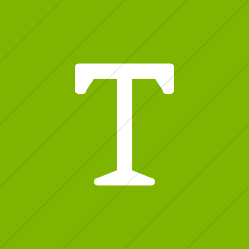 Flat Square White On Green Broccolidry Typography Icon