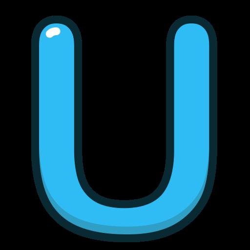 Alphabet, Blue, Letter, Letters, U Icon