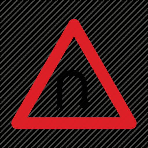 Arrow, Road, Sign, Turn, U Icon
