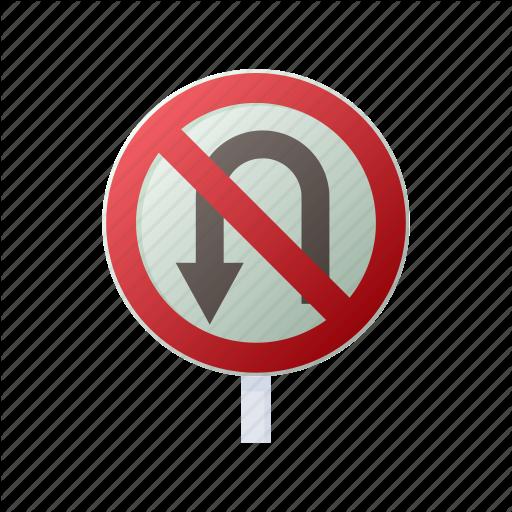 Cartoon, Forbid, No, Sign, Traffic, Turn, U Icon