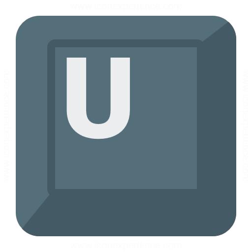 Iconexperience G Collection Keyboard Key U Icon