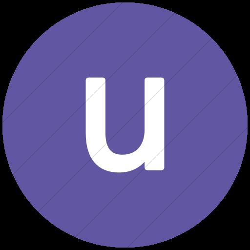 Flat Circle White On Purple Alphanumerics Lowercase
