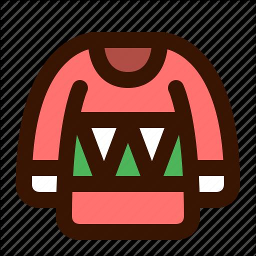 Christmas, Coat, Jacket, Overcoat, Sweater, Ugly, Wear Icon