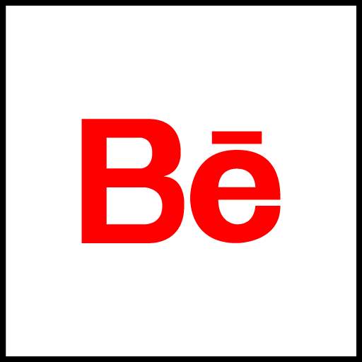 Behance Free Red Social Media Icon Download