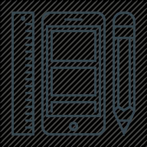 Design, Mobile, Phone, Ui, Ui Design, Ux, Ux Design Icon