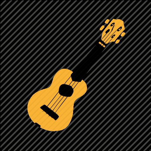 Guitar, Hawaii, Music, Musical Instrument, Ukulele, Yellow Icon