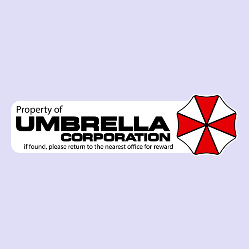 Property Of Umbrella Corporation Logo Decal Vinyl Sticker