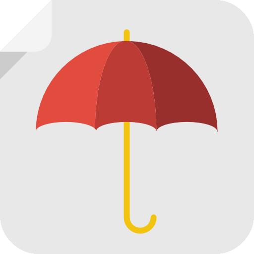 Umbrella Icon Square Iconset Flat