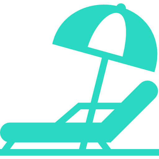 Green, Beach, Chair, And, Umbrella Icon Free Of Hotel And Spa Icons