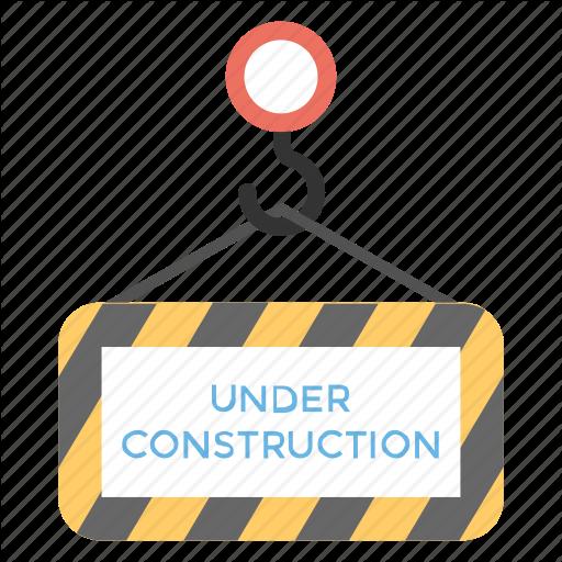 Construction Announcement, Construction Banner, Construction Label