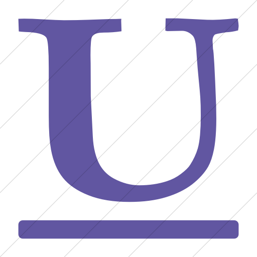 Simple Purple Bootstrap Font Awesome Underline Icon