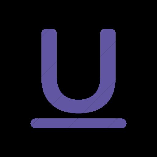 Simple Purple Foundation Underline Icon