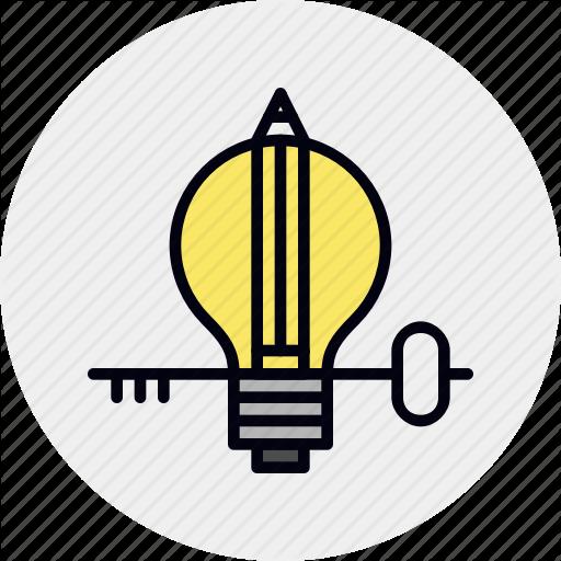 Idea, Insight, Key, L Lightbulb, Understanding Icon