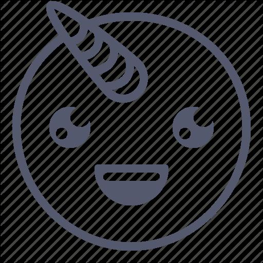 Emoji, Emotion, Face, Smile, Unicorn Icon