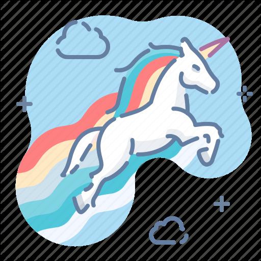 Magic, Rainbow, Sky, Unicorn Icon
